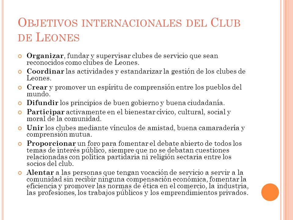 Objetivos internacionales del Club de Leones