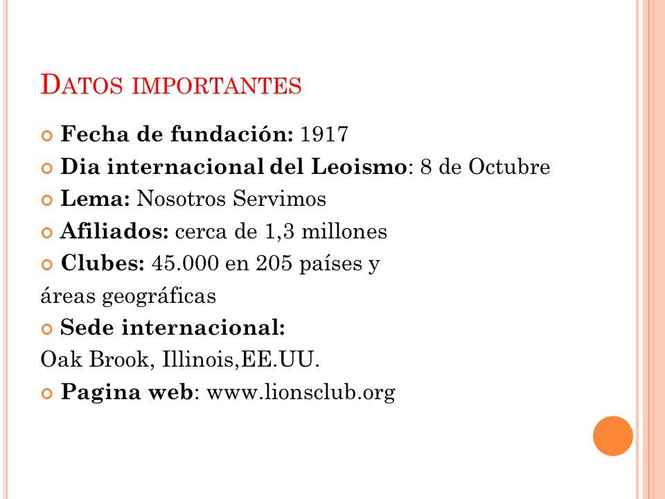 Datos importantes Fecha de fundación: 1917