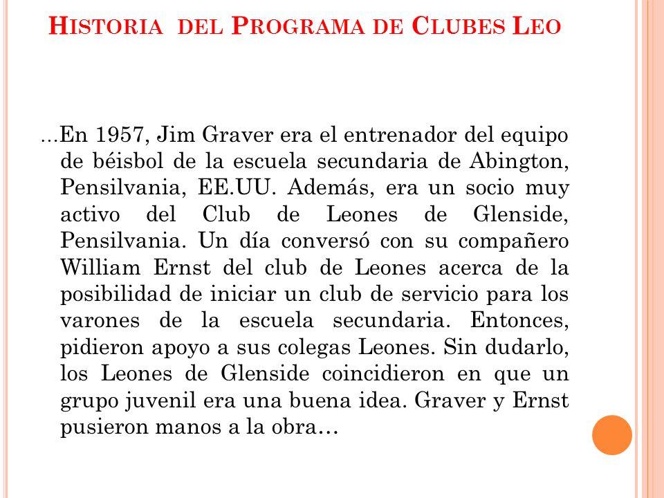 Historia del Programa de Clubes Leo