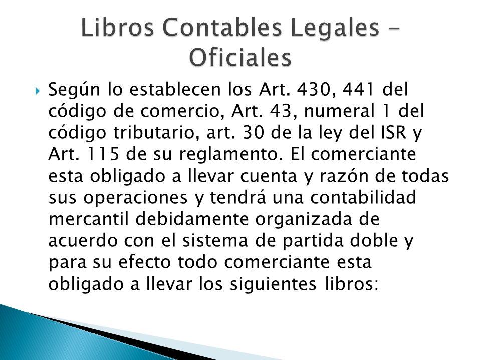 Libros Contables Legales - Oficiales