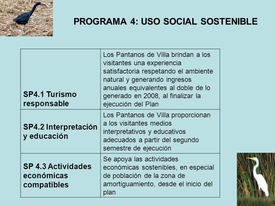 PROGRAMA 4: USO SOCIAL SOSTENIBLE
