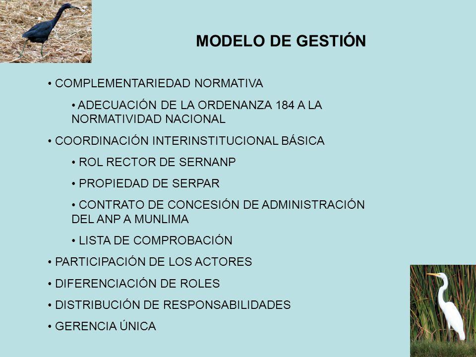 MODELO DE GESTIÓN COMPLEMENTARIEDAD NORMATIVA