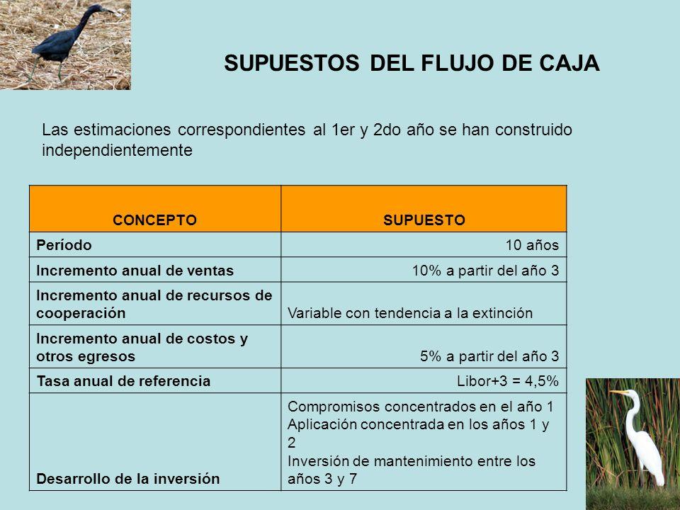 SUPUESTOS DEL FLUJO DE CAJA