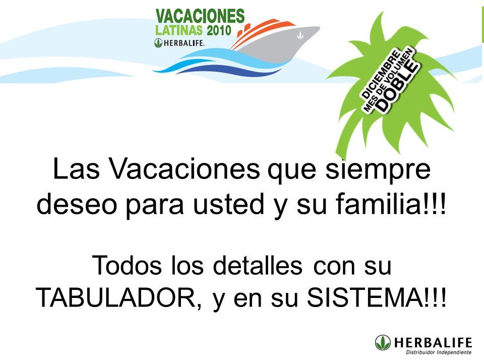 Las Vacaciones que siempre deseo para usted y su familia!!!