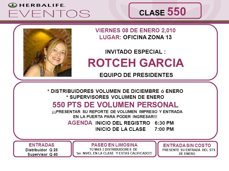ROTCEH GARCIA CLASE 550 550 PTS DE VOLUMEN PERSONAL