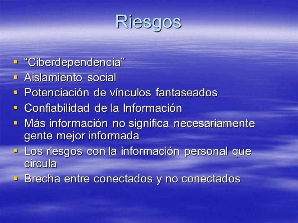 Riesgos Ciberdependencia Aislamiento social