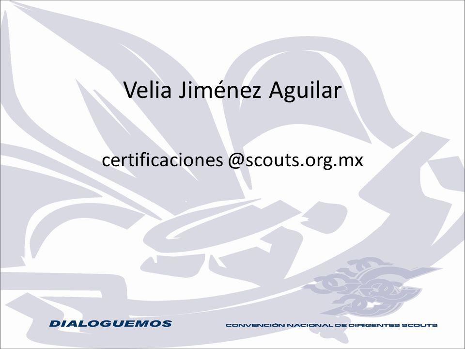 certificaciones @scouts.org.mx