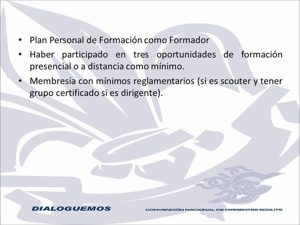 Plan Personal de Formación como Formador