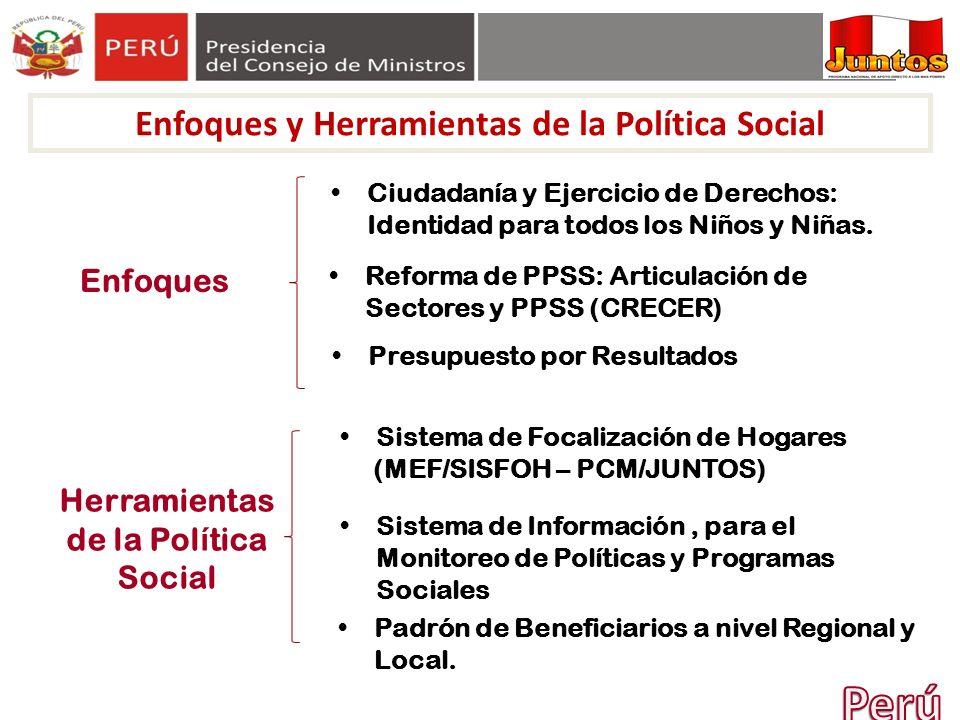 Perú Enfoques y Herramientas de la Política Social Enfoques