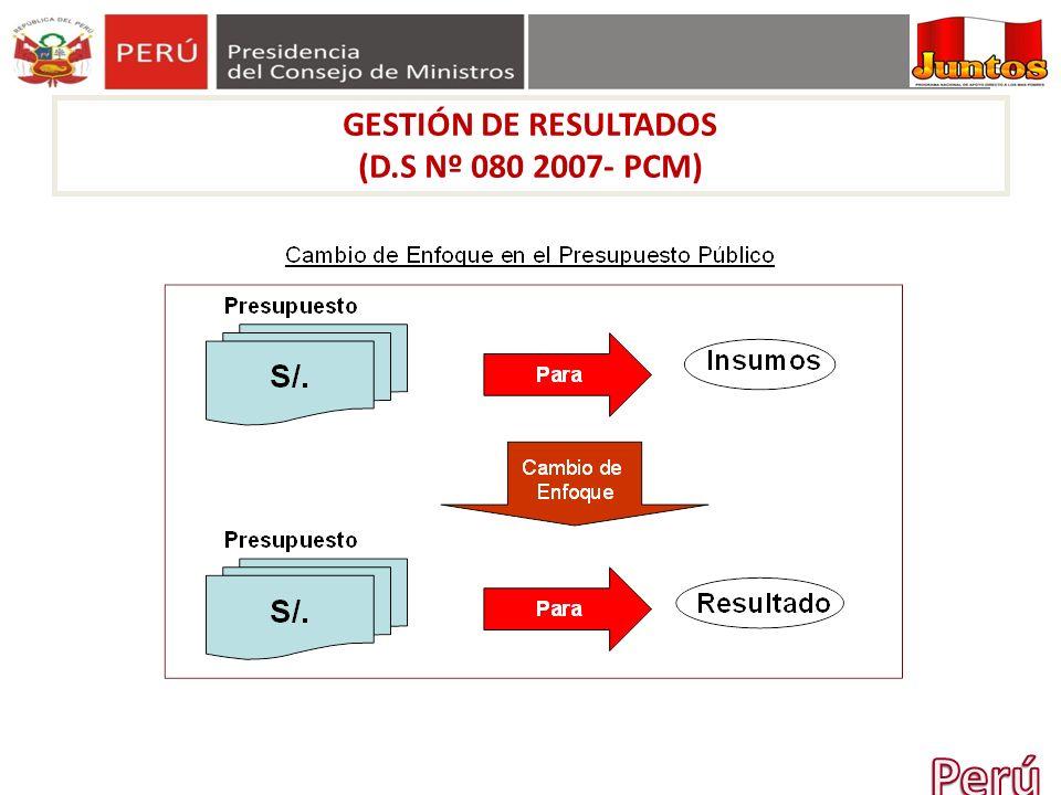 GESTIÓN DE RESULTADOS (D.S Nº 080 2007- PCM) Perú 14