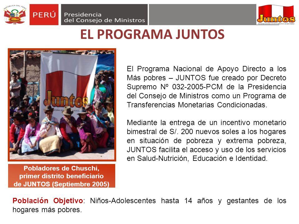 primer distrito beneficiario de JUNTOS (Septiembre 2005)