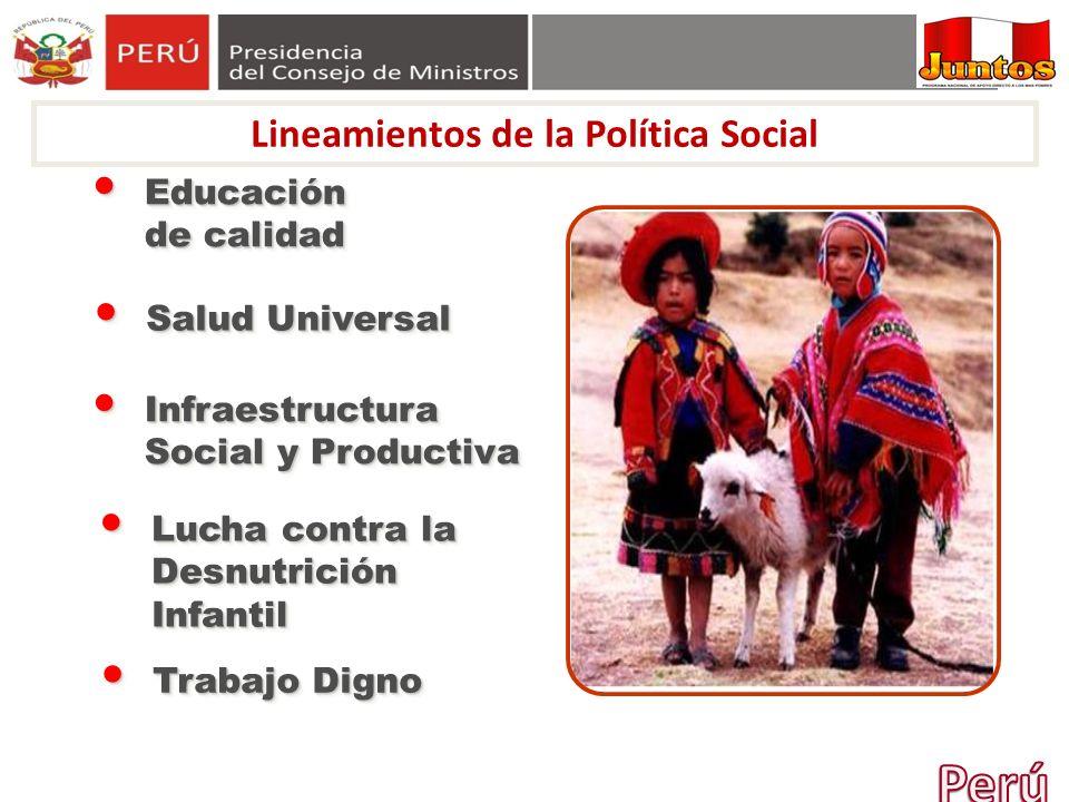 Lineamientos de la Política Social