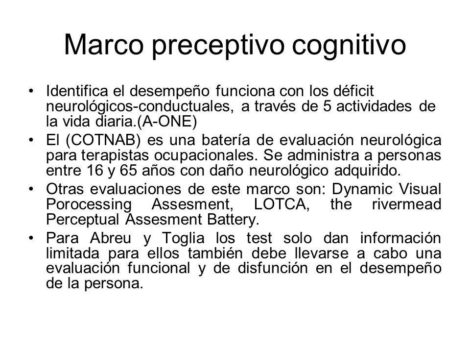 Marco preceptivo cognitivo