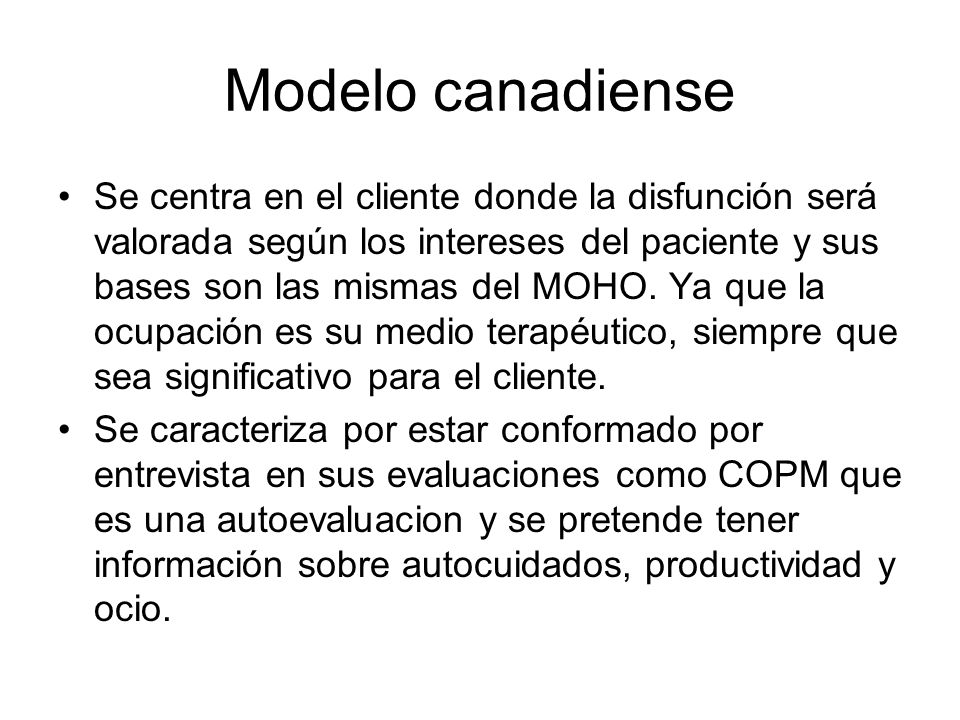 Modelo canadiense