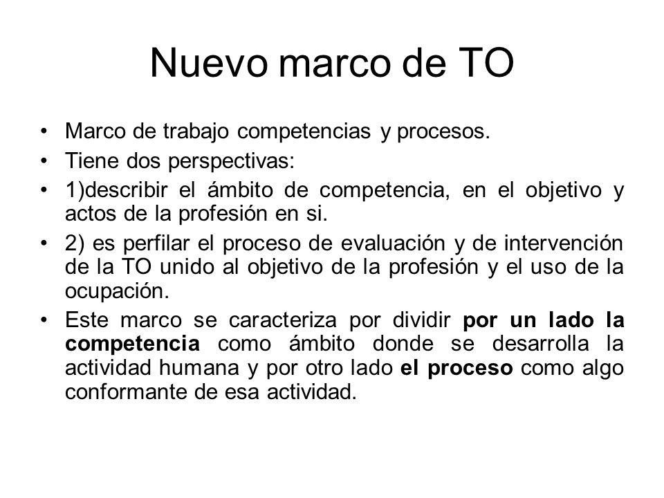 Nuevo marco de TO Marco de trabajo competencias y procesos.