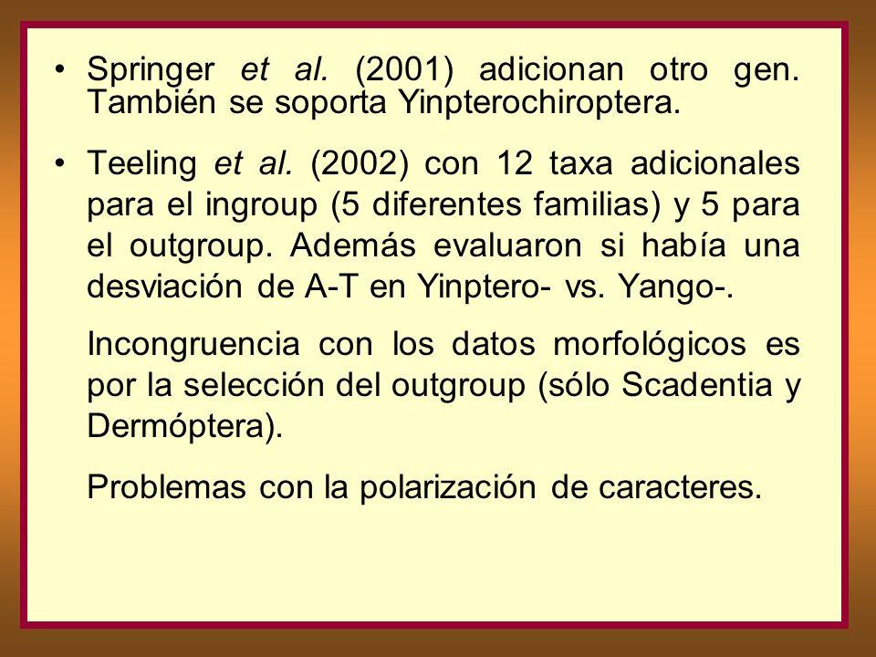 Springer et al. (2001) adicionan otro gen