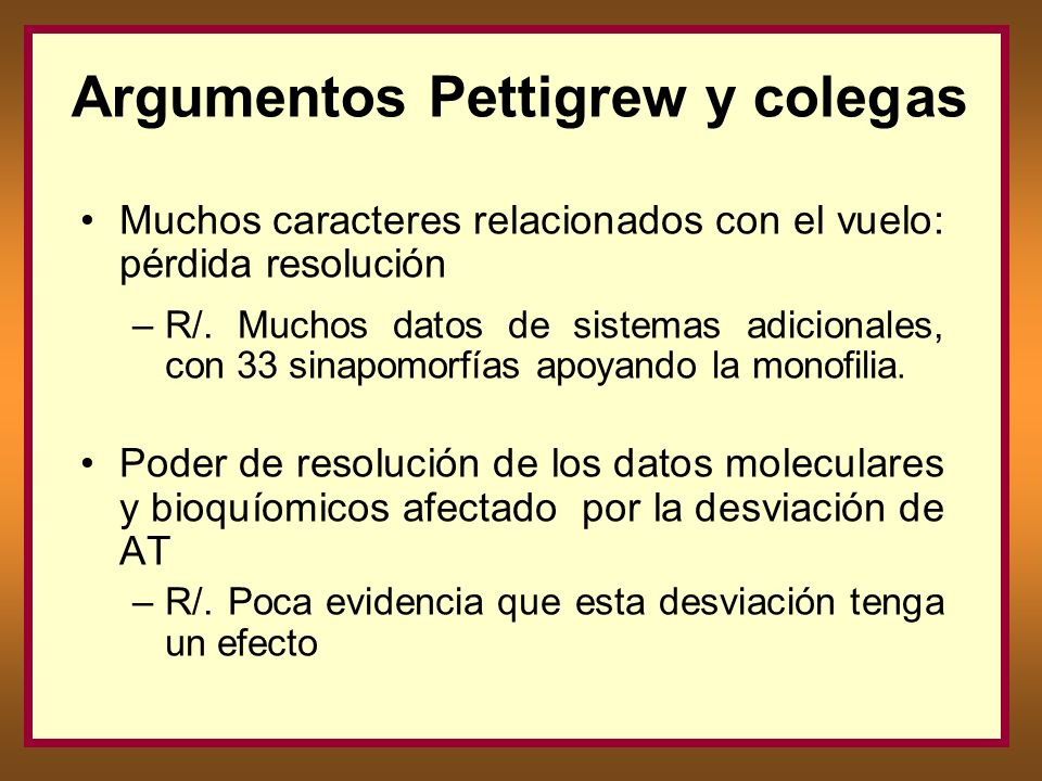 Argumentos Pettigrew y coleg as