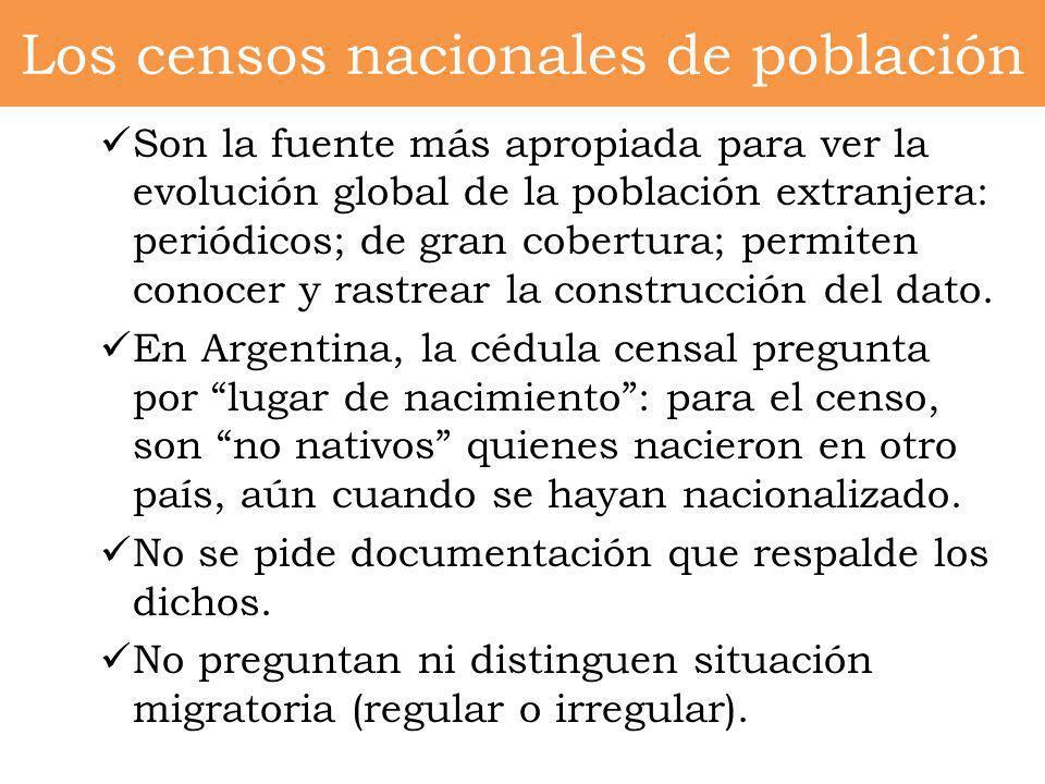 Los censos nacionales de población
