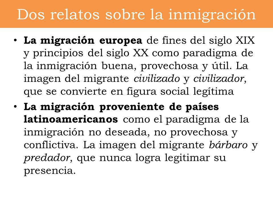 Dos relatos sobre la inmigración