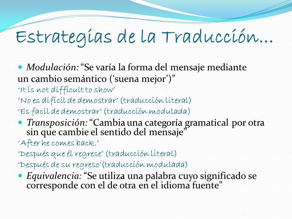 Estrategias de la Traducción...