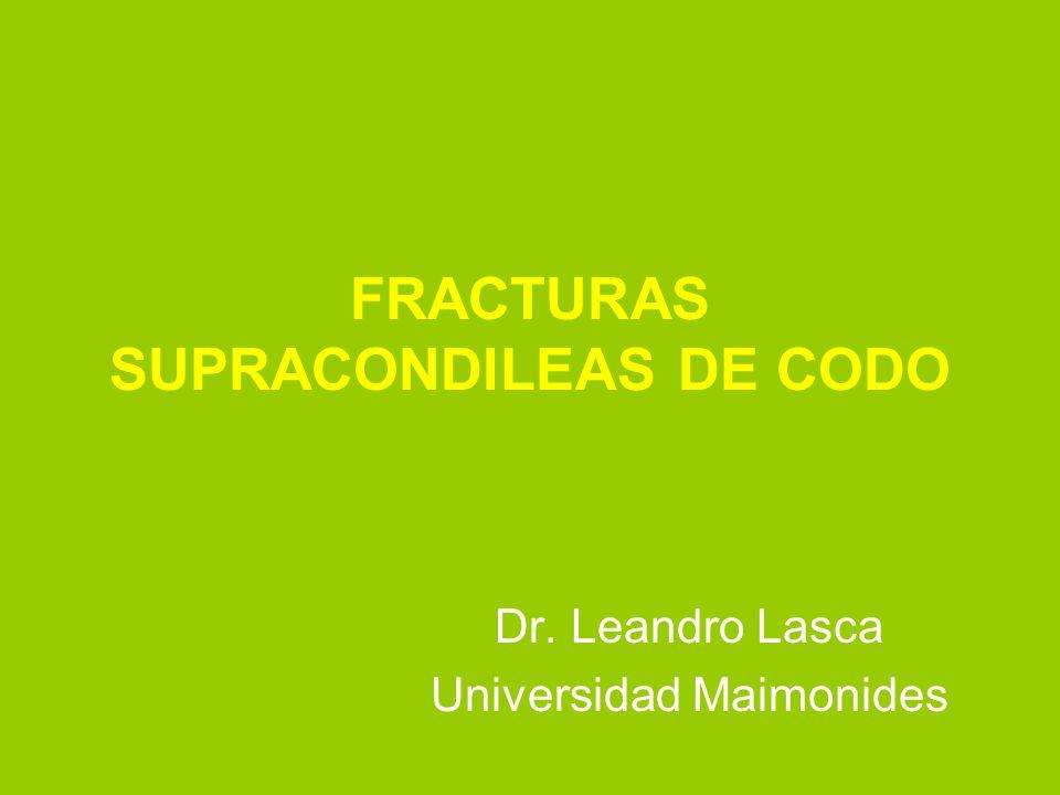 FRACTURAS SUPRACONDILEAS DE CODO