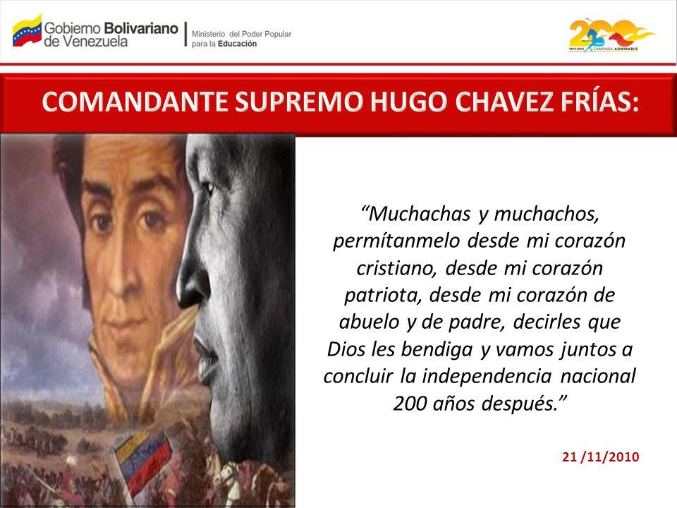 COMANDANTE SUPREMO HUGO CHAVEZ FRÍAS: