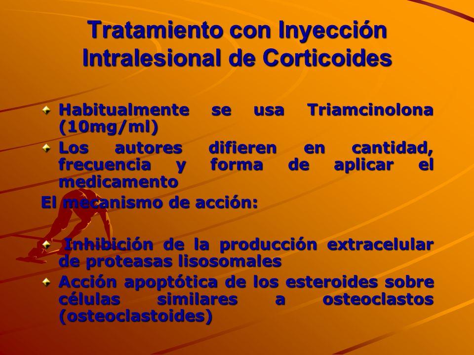 Tratamiento con Inyección Intralesional de Corticoides