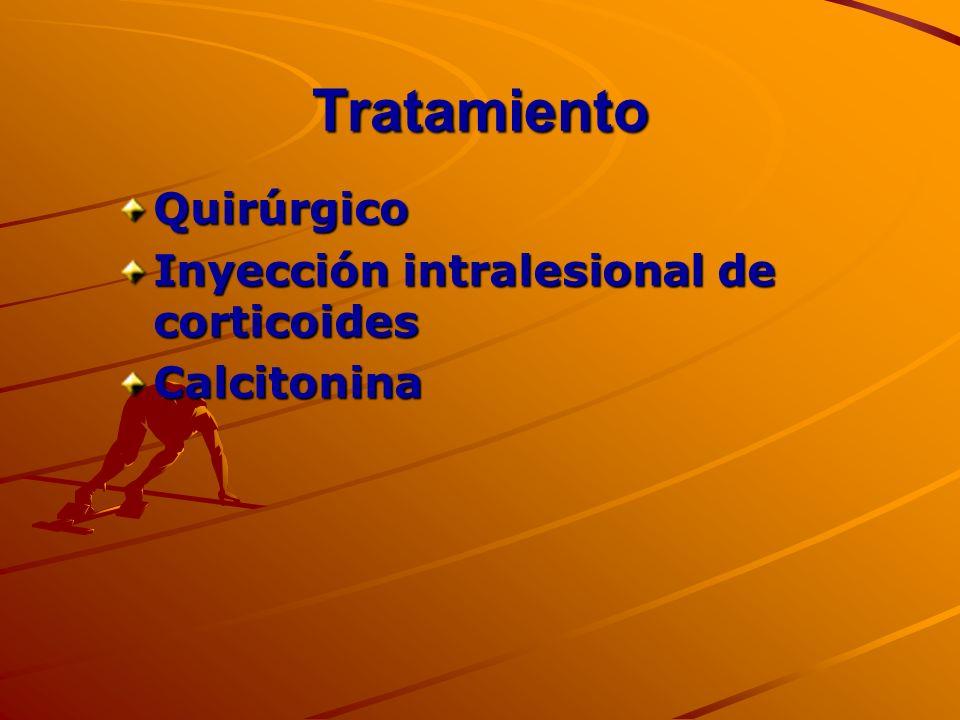 Tratamiento Quirúrgico Inyección intralesional de corticoides