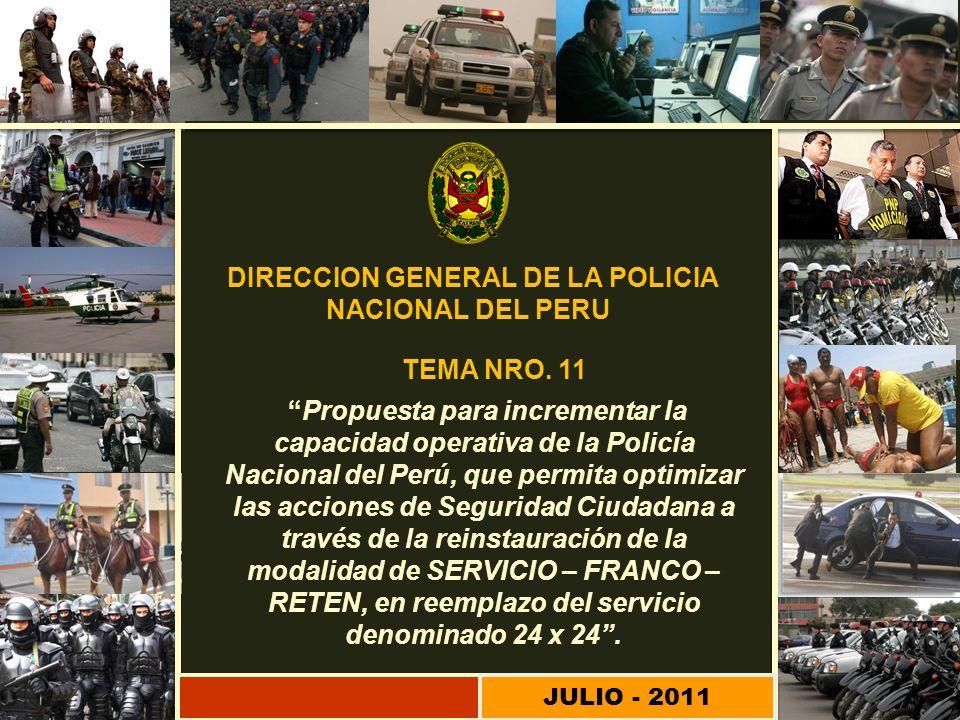 DIRECCION GENERAL DE LA POLICIA NACIONAL DEL PERU