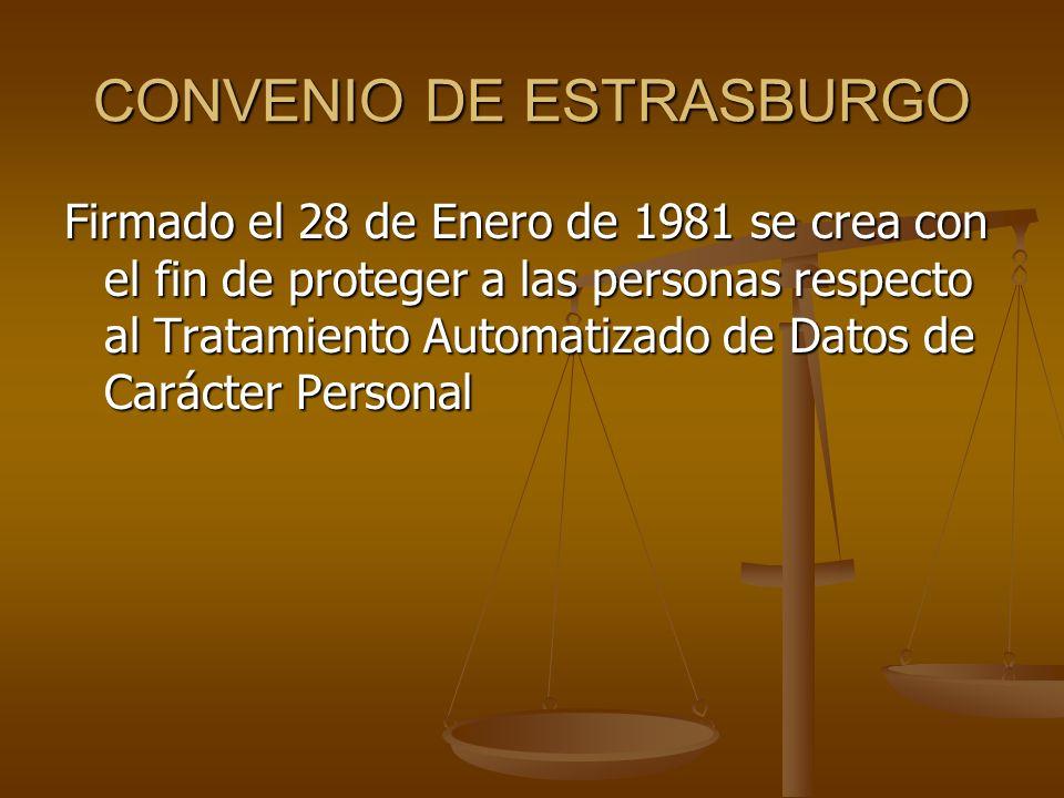 CONVENIO DE ESTRASBURGO