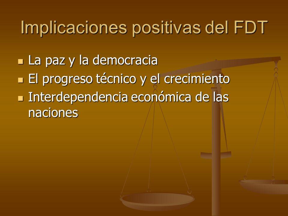 Implicaciones positivas del FDT