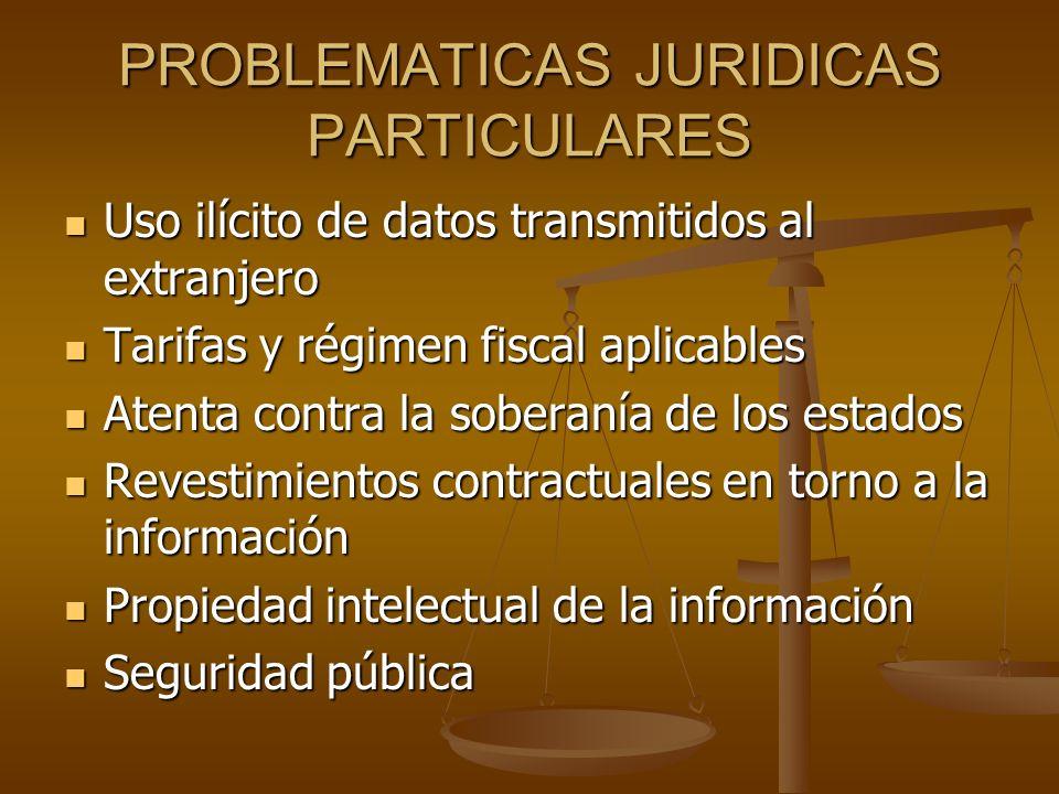 PROBLEMATICAS JURIDICAS PARTICULARES