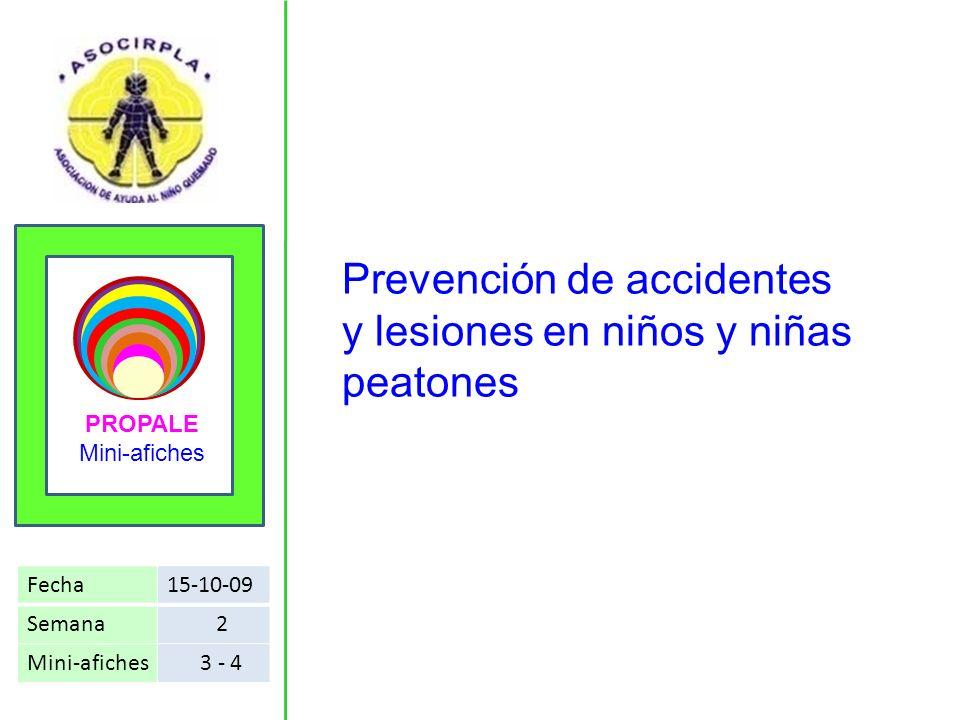 Prevención de accidentes y lesiones en niños y niñas peatones