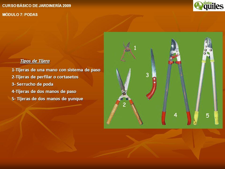 Tipos de Tijera 1-Tijeras de una mano con sistema de paso