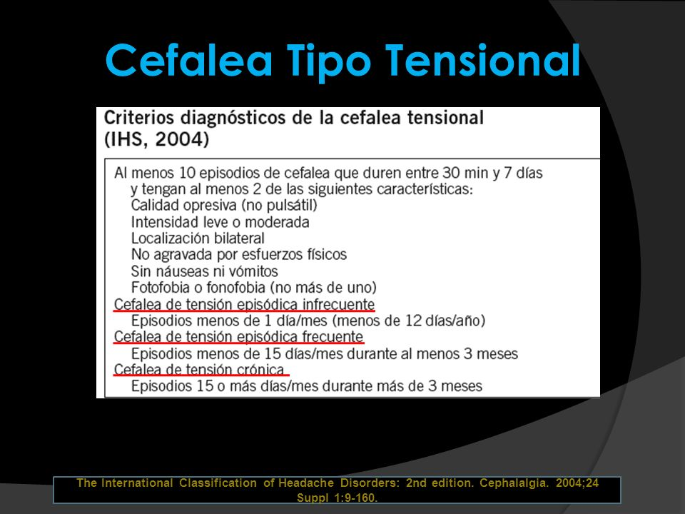Cefalea Tipo Tensional