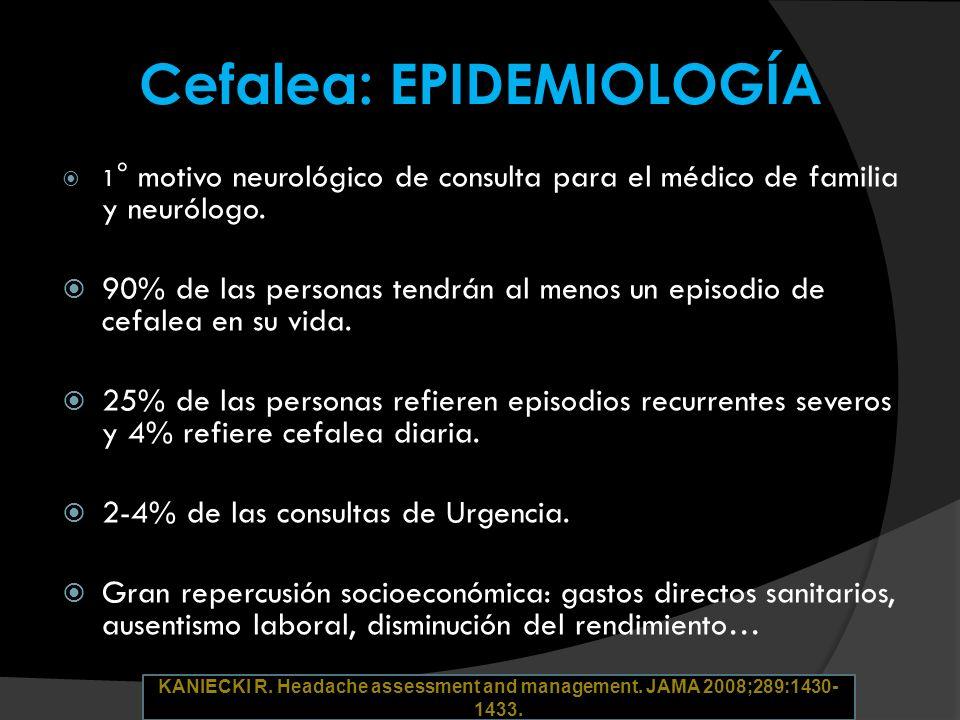 Cefalea: EPIDEMIOLOGÍA