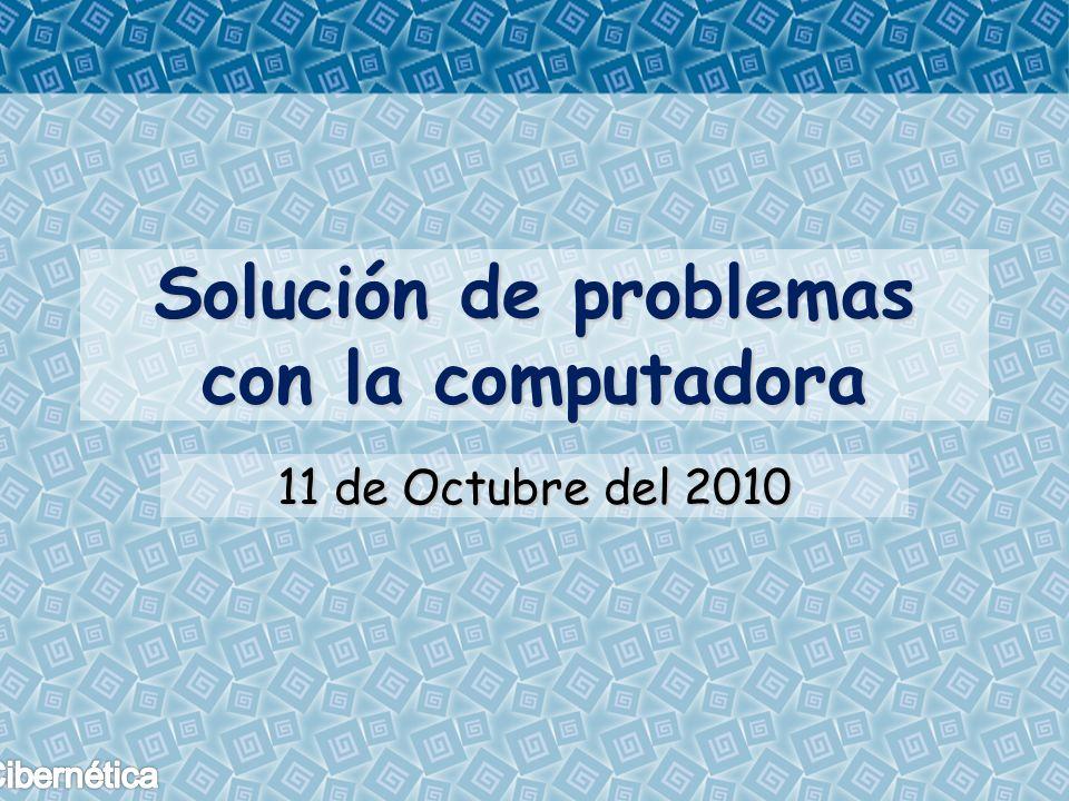 Solución de problemas con la computadora