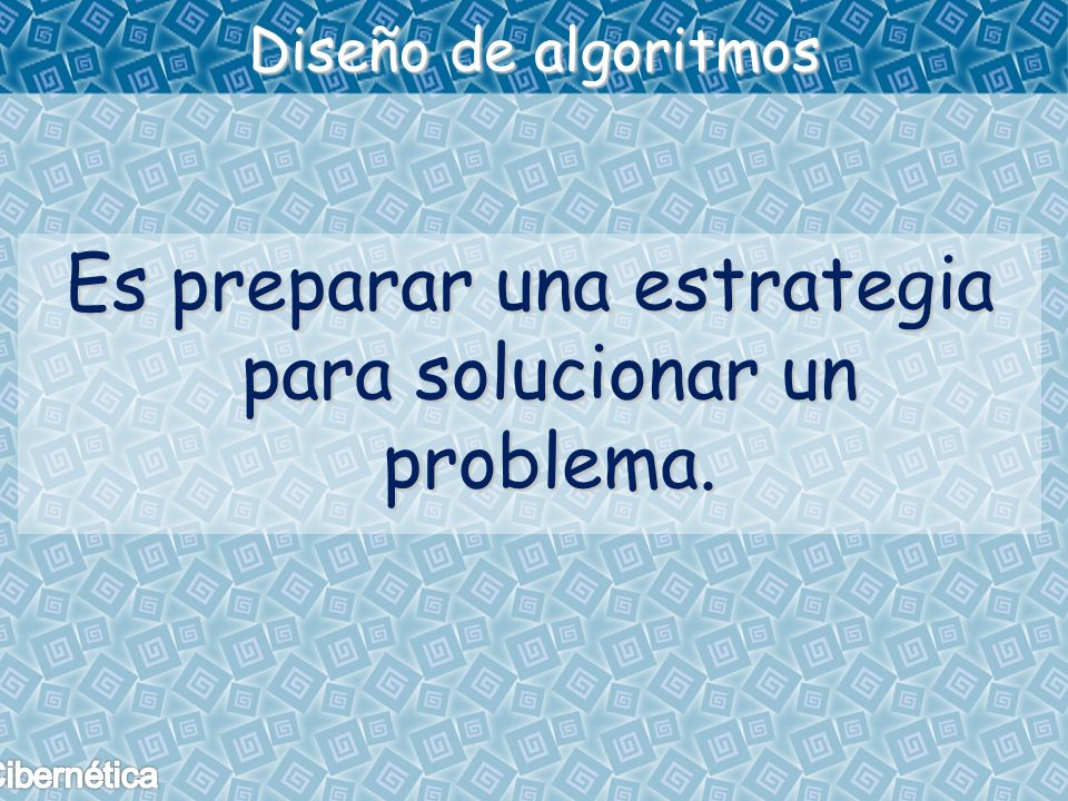 Es preparar una estrategia para solucionar un problema.