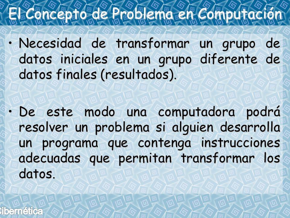 El Concepto de Problema en Computación