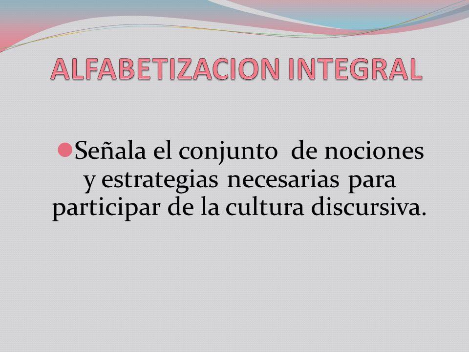 ALFABETIZACION INTEGRAL
