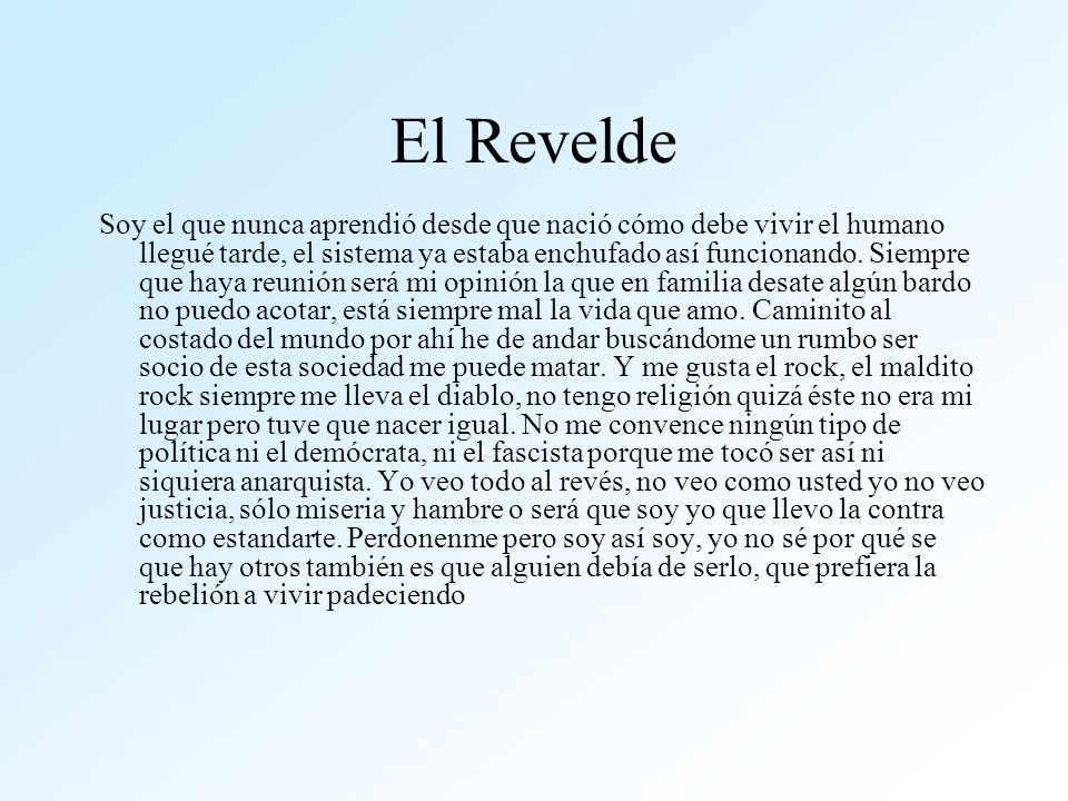 El Revelde
