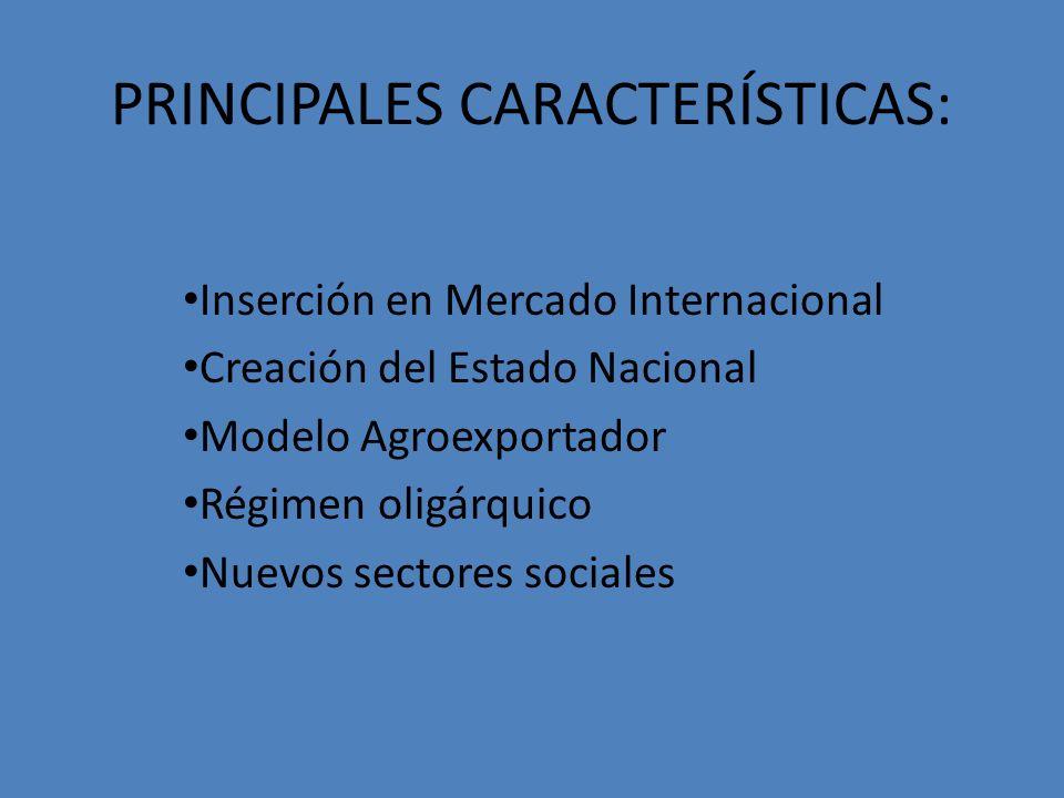 PRINCIPALES CARACTERÍSTICAS: