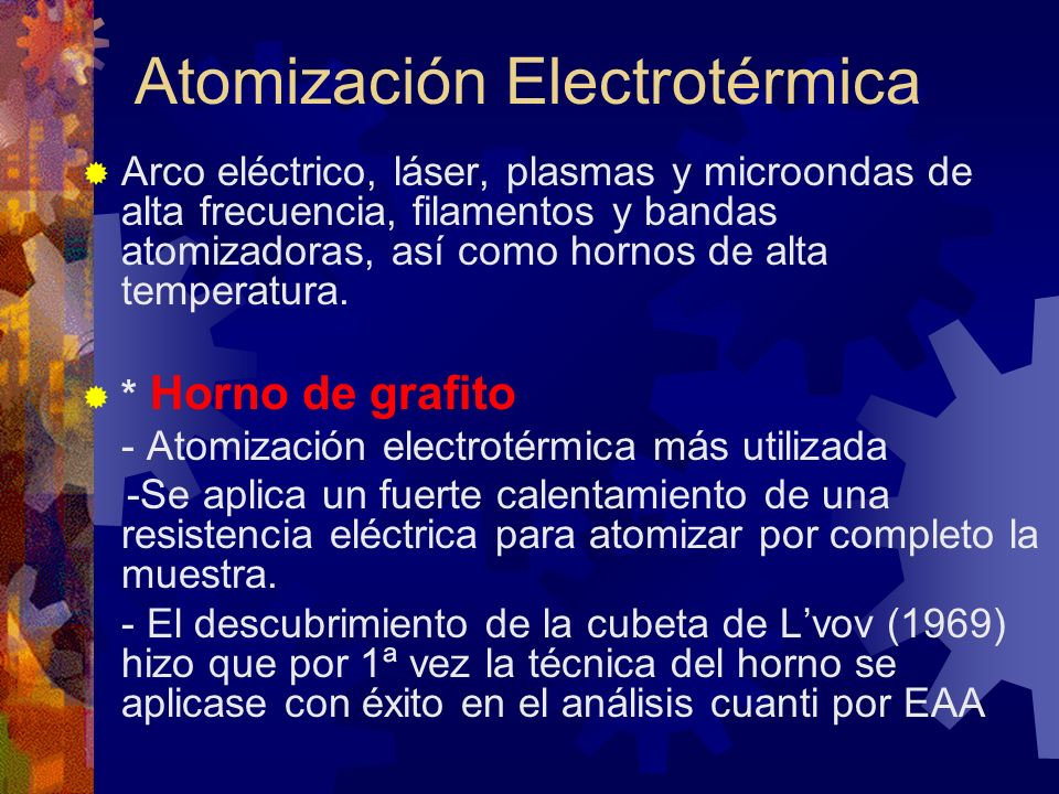 Atomización Electrotérmica