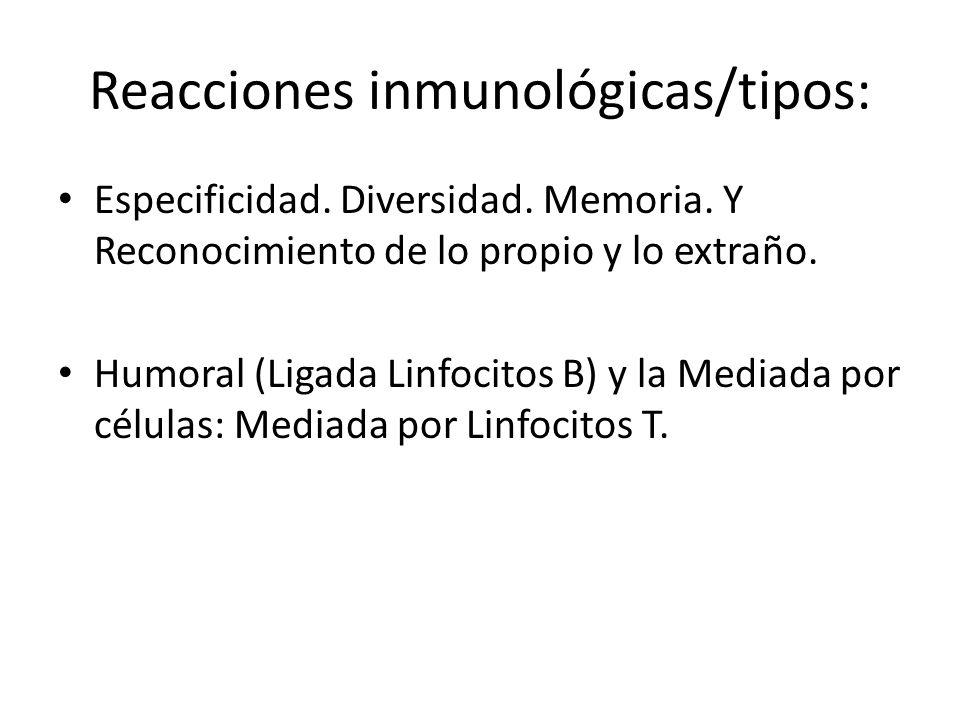 Reacciones inmunológicas/tipos: