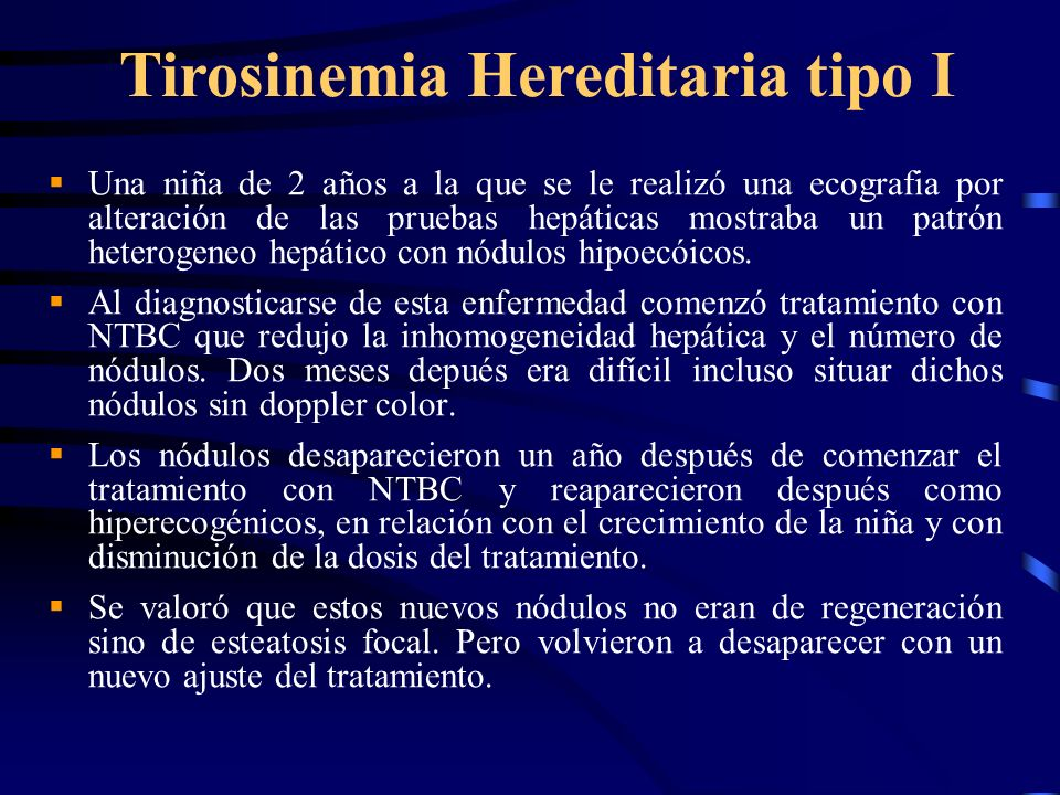 Tirosinemia Hereditaria tipo I