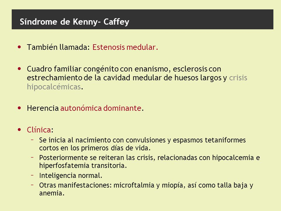 Síndrome de Kenny- Caffey