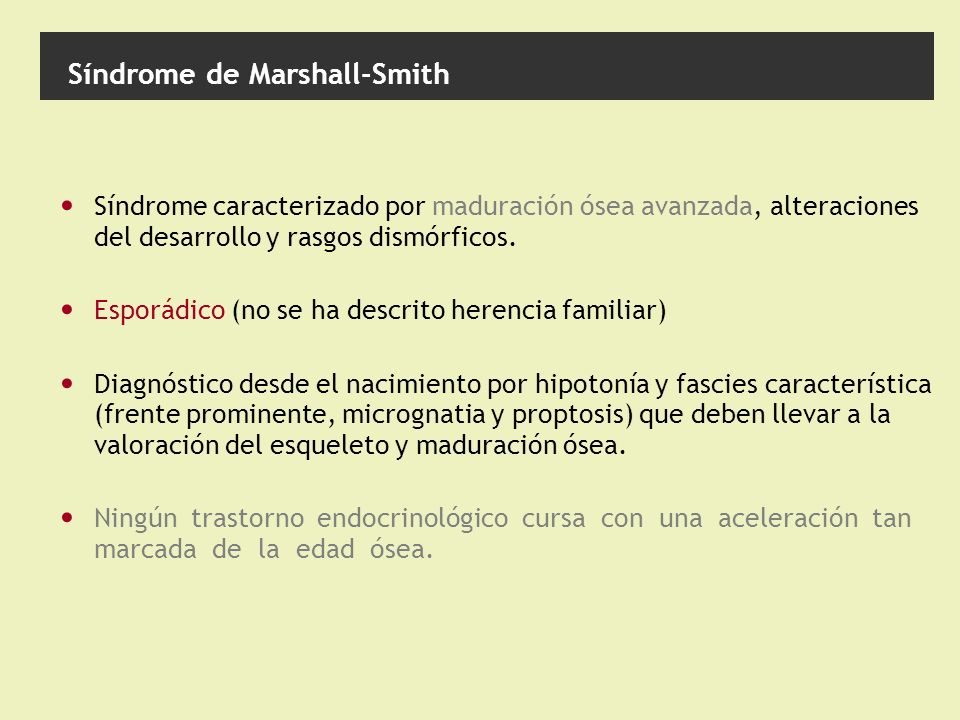 Síndrome de Marshall-Smith