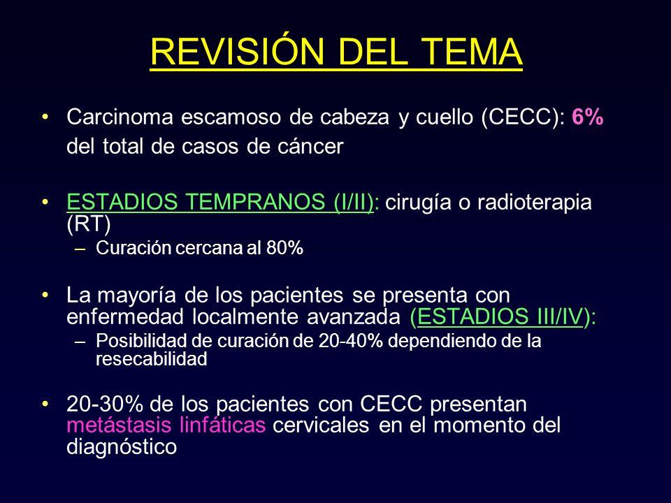 REVISIÓN DEL TEMA Carcinoma escamoso de cabeza y cuello (CECC): 6% del total de casos de cáncer.
