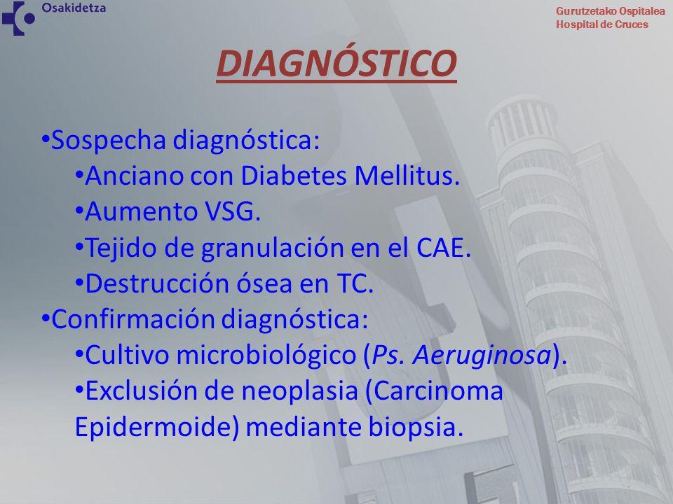 DIAGNÓSTICO Sospecha diagnóstica: Anciano con Diabetes Mellitus.
