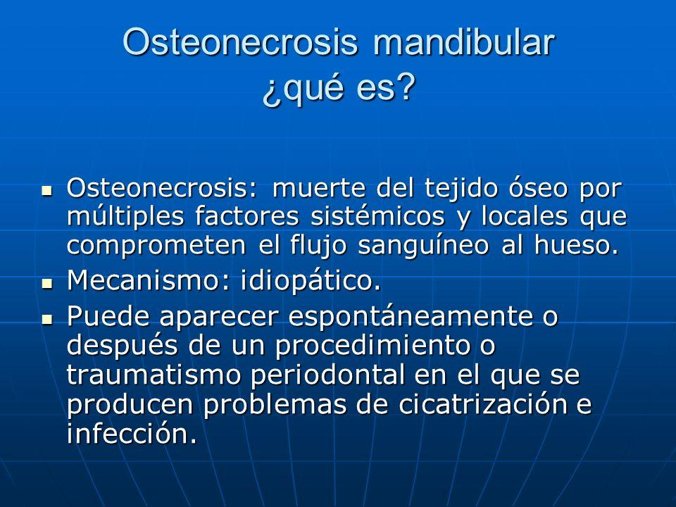 Osteonecrosis mandibular ¿qué es